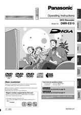 Panasonic DMR-ES15 DVD Recorder Owners Instruction Manual