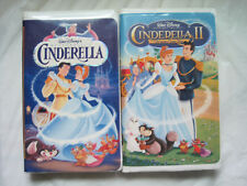 #~Lot of 2~Disney Cinderella I and II Feature Animated Films~VHS~LBDVZ