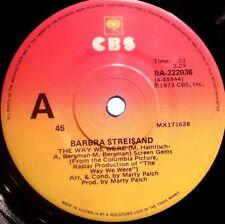 BARBRA STEISAND 45RPM THE WAY WE WERE 1973 FREE POST IN AUSTRALIA