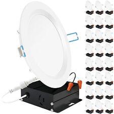 Sunco 24 Pack Slim Downlight LED 6 Inch Dimmable Baffle Trim Retrofit 14W=100W