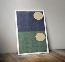 Abstract Prints Printable Wall Decor Downloadable Lunar Crisis Moon and sea