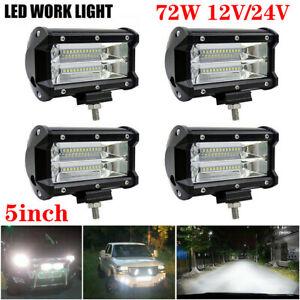 12V/24V 72W LED Work Light Bar Flood Spot Lights Driving Lamp Offroad Car SUV UK