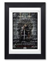 GAME OF THRONES CAST SIGNED POSTER TV SERIES SEASON PRINT PHOTO AUTOGRAPH GIFT