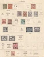 ERITREA  INTERESTING COLLECTION ON ALBUM PAGES - Y591