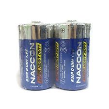 2 pcs D Size 1.5V Carbon Zinc Battery R20 UM1 Super Heavy Duty Toy US Stock