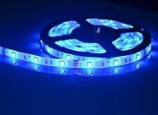 24v 5m colore BLU BRILLANTE smd5050 300 Led Sotto Armadio Armadietto Luce Strip Nastro