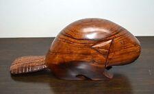 Hand Carved Wooden Beaver Sculpture