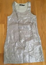BNWT Sportgirl silver linen mini shift dress sleeveless size 8, gorgeous!