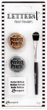 Ranger Letter It Perfect Pearls Powder Set #1 Medium & Brush Bronze & Pewter