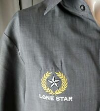 Gray Lone Star Work Uniform Shirt Short Sleeve Rockabilly Greaser Edwards