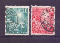 Bund 1949 - Bundestag MiNr. 111/112 rund gestempelt - Michel 45,00 € (957)