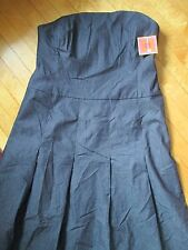 ISAAC MIZRAHI strapless DRESS Size 10 lined DENIM blue NEW