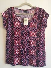Women's T-Shirt Large Multi Color Lucky Brand Msrp$59.5