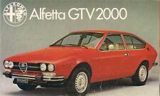 ALFA ROMEO ALFETTA GTV 2000 1979-81 UK Opuscolo Vendite sul Mercato PIEGA
