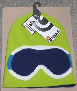 BNWT *BREKKA* REVERSIBLE HAT {New /Beanie/ Blue-Green/ Snowboarding/ Sunglasses}