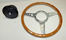 "New 13"" Laminated Wood Steering Wheel & Hub Adapter Triumph Spitfire TR4 TR6"