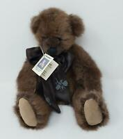 Bearables Plush Jointed Teddy Bear Handmade Recycled Fur Coat Diane Bellamo