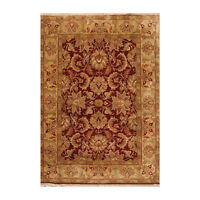 5'6'' x 7'11'' Hand Knotted 100% Wool Oushak Traditional Oriental Area Rug Rust