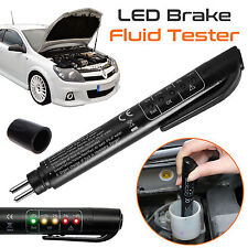 New Brake Fluid Tester LED Moisture Water Indicator DOT3 DOT4 Compact Test Pen