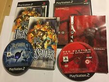 2 x COMPLETE PLAYSTATION 2 PS2 GAMES BUNDLE TIMESPLITTERS 1 + RED FACTION I PAL