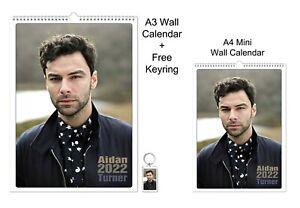 Aidan Turner 2022 A3 A4 Wall Office Calendar + Key Ring