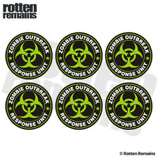 "Zombie Green Response Unit Decal Sticker 6 Pack 2""x2"" Team Hunter Vinyl ZU1"