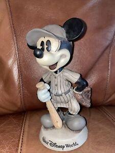 Vintage 8 in. Mickey Mouse Bobblehead Baseball Player- Disneyworld
