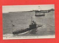 LA PALLICE ROCHELLE - Sous marin rentrant au port  (J6309)