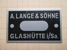 Lange & Söhne Marinechronometer, Typenschild
