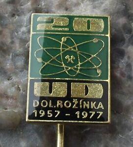 1977 Uranium Mines Rozinka Atom Atomic Symbol Electron Anniversary Pin Badge
