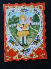 Vintage Victorian Era Valentine Little Girl and Boy Sweet Verse