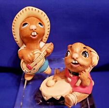 Pendelfin Rabbit Figurines - Rocky and Bongo (Uk) Rare