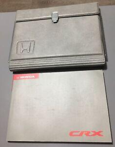 HONDA CRX OWNERS MANUAL HANDBOOK FOLDER WALLET BOOK PACK MK3 CR-X 1.6 1992-1997