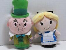 Hallmark itty bittys Disney Alice in Wonderland and Mad Hatter Stuffed Toy Lot