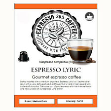 10 Nespresso capsules pods compatible FRESHLY ROASTED gourmet Coffee LYRIC