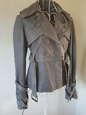 *STUNNING* ALL SAINTS GREY STEAM PUNK DIESEL LEATHER JACKET SZ UK10 US8 RRP £320