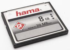 Hama CF Karte 8GB SPEICHERKARTE MEMORY CARD