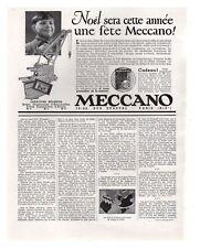 PUBLICITE JOUET MECCANO 1/2 PAGE 1932