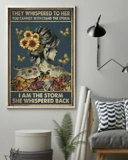 Sunflower Butterflies Girl They Whispered You Can't Withstand Storm Canvas 0.75