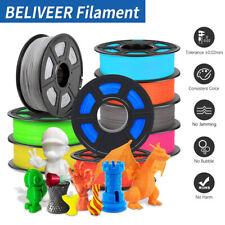 BELIVEER PLA PETG SILK ABS 3D Drucker Filament 1,75mm 1KG Genauigkeit+/-0,02mm