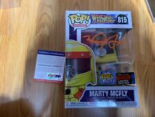 "Funko Pop Signed Michael J Fox ""Marty Mcfly"" Back To The Future PSA-IP NYCC B"