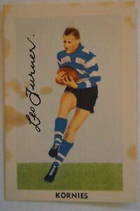 Geelong 1952 Kornies Vintage Footballers in Action Football Card L.Turner