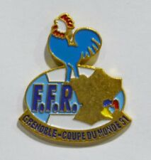 PINS RUGBY FEDERATION FRANCE GRENOBLE COUPE MONDE 91 COQ CHICKEN