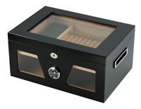 Elegant 120+ CT Count Cigar Humidor Humidifier Wooden Case Box Hygrometer fiv