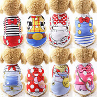 Dog Cat Clothes Cotton Printed Small Dog T-Shirts Soft Summer Puppy Casual Vests