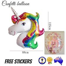 LARGE MY LITTE PONY UNICORN FOIL BALLOON Birthday Party Supplies CONFETTI Toy