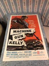 "Machine Gun Kelly 1958 Orig. 1 Sheet Movie Poster 27""x41"" Charles Bronson (VG/F)"