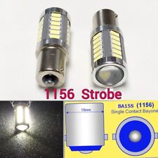 Strobe 1156 BA15S P21W 7506 33 LED Projector White Bulb Front Turn Signal B1 E