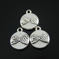 35358 Vintage Silver Alloy Pinky Swear Promise Pendants Charms Findings 15pcs