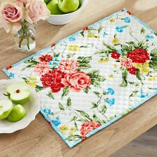 NEW 4 pack Pioneer Woman Sweet Rose Quilted Placemats - reversible, floral